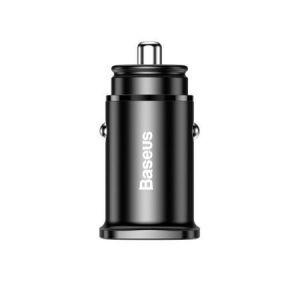 Ładowarka samochodowa Baseus z portami USB Quick Charge 4.0 QC 4.0 i USB-C PD 3.0 SCP czarny (CCALL-AS01)
