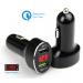 Ładowarka samochodowa QC 3.0+2.4A czarna