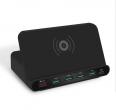 Ładowarka - stacja ładująca 5x USB + ładowanie PD oraz indukcyjne