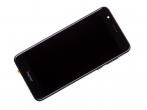 02350VAS - Obudowa przednia z ekranem dotykowym i wyświetlaczem Huawei Honor 8 - czarna (oryginalna)
