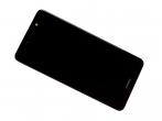 02351HSB - Obudowa przednia z ekranem dotykowym i wyświetlaczem Huawei Y7 Dual SIM - szara (oryginalna)