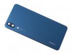 02351WKU - Klapka baterii Huawei P20 - niebieska (oryginalna)