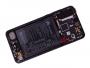 02351WQK - Obudowa przednia z ekranem dotykowym i wyświetlaczem Huawei P20 Pro/ P20 Pro Dual SIM - czarna (oryginalna)