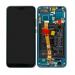 02351YDB - ORYGINALNY Wyświetlacz LCD + Ekran dotykowy + bateria Huawei Honor 10 - zielony
