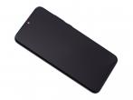 02352GWN - Obudowa przednia z ekranem dotykowym i wyświetlaczem Huawei Honor 10 Lite - czarna (oryginalna)