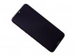 02352KCV - Obudowa przednia z ekranem dotykowym i wyświetlaczem Huawei Y7 2019 - czarna (oryginalna)