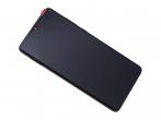02352NLL - Obudowa przednia z ekranem dotykowym i wyświetlaczem  Huawei P30 - czarny (oryginalna)
