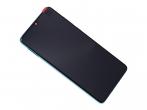 02352NLN - Obudowa przednia z ekranem dotykowym i wyświetlaczem Huawei P30 - Aurora Blue (oryginalna)