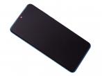 02352RQA - Obudowa przednia z ekranem dotykowym i wyświetlaczem Huawei P30  Lite - niebieska (oryginalna)