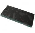 1297-3728 - Obudowa przednia z ekranem dotykowym i wyświetlaczem LCD Sony E5803/ E5823 Xperia Z5 Compact - czarn...