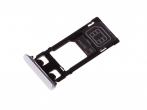 1302-4831 - Szufladka karty Sony F5121 Xperia X - biała (oryginalna)