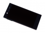 1304-1869 - Obudowa przednia z ekranem dotykowym i wyświetlaczem LCD Sony F5321 Xperia X Compact - czarna (orygi...