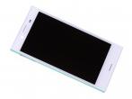 1304-1871 - Obudowa przednia z ekranem dotykowym i wyświetlaczem LCD Sony F5321 Xperia X Compact - biała (orygin...