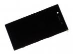 1307-9860 - Obudowa przednia z ekranem dotykowym i wyświetlaczem LCD Sony G8141 Xperia XZ Premium - czarna (oryg...