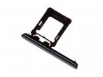 1307-9908 - Szufladka karty Sony G8142 Xperia XZ Premium Dual SIM - czarna (oryginalna)