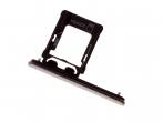 1307-9909 - Szufladka karty Sony G8142 Xperia XZ Premium Dual SIM - chrome (oryginalna)