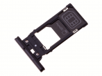 1310-2371 - Szufladka karty SIM Sony H8116 Xperia XZ2 Premium - czarna (oryginalna)