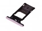 1311-3789 - Szufladka karty SIM Sony H8216, H8276 Xperia XZ2 - różowa (oryginalna)