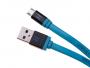 20695 - KABEL MICRO-USB HEDO UNIWERSALNY - NIEBIESKI Fast charge (ORYGINALNY)