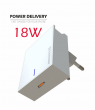 22049100 - SWISSTEN TRAVEL CHARGER POWER DELIVERY 3.0 18W WHITE