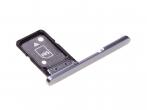 306J24Q0200 - Szufladka karty Sony H3212, H3223, H4213, H4223 Xperia XA2 Ultra - srebrna (oryginalna)