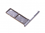 306J24Q0400 - Szufladka karty Dual Sony H3212, H3223, H4213, H4223 Xperia XA2 Ultra - srebrna (oryginalna)