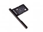 306J24Q0500 - Szufladka karty Sony H3212, H3223, H4213, H4223 Xperia XA2 Ultra - czarna (oryginalna)