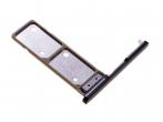 306J24Q0800 - Szufladka karty Dual Sony H3212, H3223, H4213, H4223 Xperia XA2 Ultra - czarna (oryginalna)
