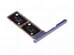 306J24Q0900 - Szufladka karty Dual Sony H3212, H3223, H4213, H4223 Xperia XA2 Ultra - niebieska (oryginalna)