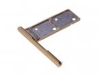 306J24Q0A00 - Szufladka karty Dual Sony H3212, H3223, H4213, H4223 Xperia XA2 Ultra - złota (oryginalna)