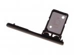 306J2DE0500 - Szufladka karty SIM Sony I3113, I3123, I4113, I4193 Xperia 10 - czarna (oryginalna)
