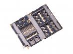3709-001936 - Oryginalny Czytnik karty SIM i micro SD Samsung SM-A405 Galaxy A40/ SM-A202 Galaxy A20e