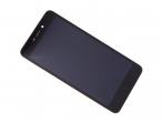 480071200003, 560610003033 - Obudowa przednia z ekranem dotykowym i wyświetlaczem Xiaomi Redmi 4A - czarna (oryginalna)