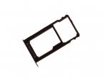 51660WJS - Szufladka karty SIM i SD Huawei Honor 5X - srebrna (oryginalna)