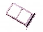 51661JAV - Szufladka karty SIM i SD Huawei P20 - różowa (oryginalna)
