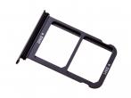 51661JBA - Szufladka karty SIM i SD Huawei P20 - czarna (oryginalna)