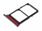 51661LAL - Szufladka karty SIM i SD Huawei P30 - czarna (oryginalna)