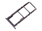 51661LCF - Szufladka karty SIM Huawei Y7 2019 - czarna (oryginalna)
