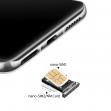 51661QTP - Oryginalna Szufladka karty SIM i SD Huawei P40 - srebrna