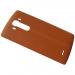 ACQ88373052, ACQ88363102 - Klapka baterii skórzana LG H815 G4 - brązowa (oryginalna)