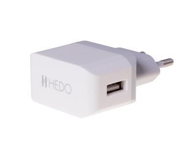 - Adapter ładowarka sieciowa USB HEDO 2.1A - biała (oryginalna)