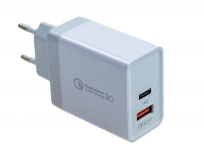 Adapter Ładowarka PD 36W oraz wyjscie usb QC 3.0 Qualcomm