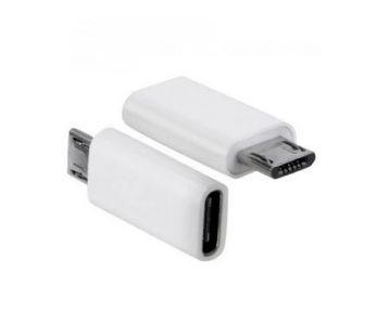 ADAPTER DO ŁADOWANIA/TRANSMISJI Typ-C - micro USB Biały