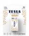 Bateria alkaliczna TESLA 9V/6LR61 1szt GOLD+