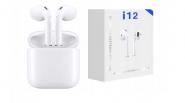 Bezprzewodowe Słuchawki Bluetooth i12 TWS białe