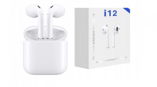 - Bezprzewodowe Słuchawki Bluetooth i12 TWS białe