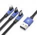 CAMLT-WZ03 - Cable USB Baseus MVP 3w1 (iPhone/Type C/Micro USB) 120cm 3.5A navy blue