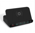 Charger - 5x USB charging station + PD and induction charging