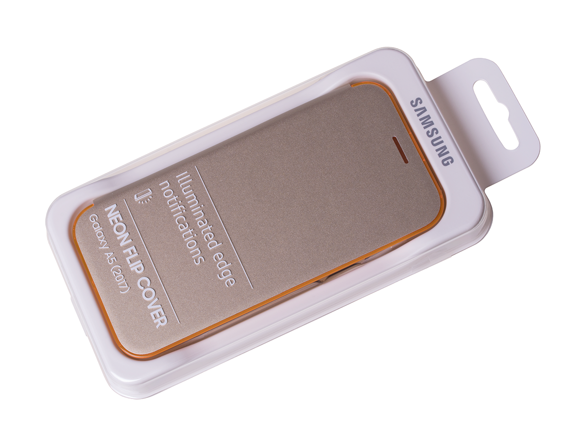 super popular 155e5 b823c Case Flip Cover Neon EF-FA520PFEGWW Samsung SM-A520 Galaxy A5 (2017) - gold  (original)