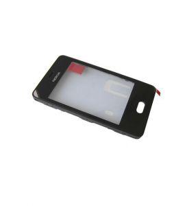 10144 - Ekran dotykowy Nokia Asha 501 + ramka czarny
